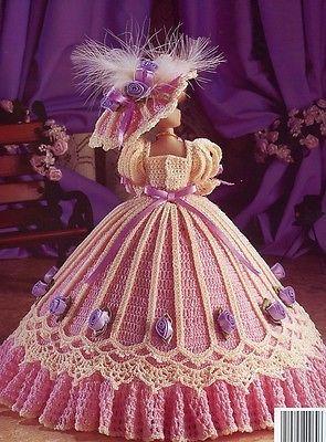 Julia de Richmond Vestido Para Bonecas Barbie Fashion Padrão De Crochê Htf Raro