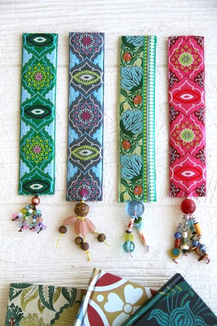 Amy Butler's new ribbon designs from Renaissance Ribbons! Bookmark Pattern available here - http://www.amybutlerdesign.com/pdfdownloads/