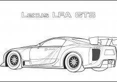 Sports Car Coloring Pages Lexus Lfa Gt3