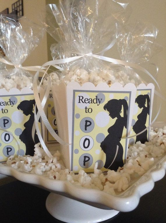 Baby Shower Favor Boxes Pinterest : Ready to pop baby shower favor boxes yellow by