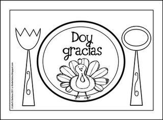 Free Thanksgiving Printable (English or Spanish) from Kinder Latino