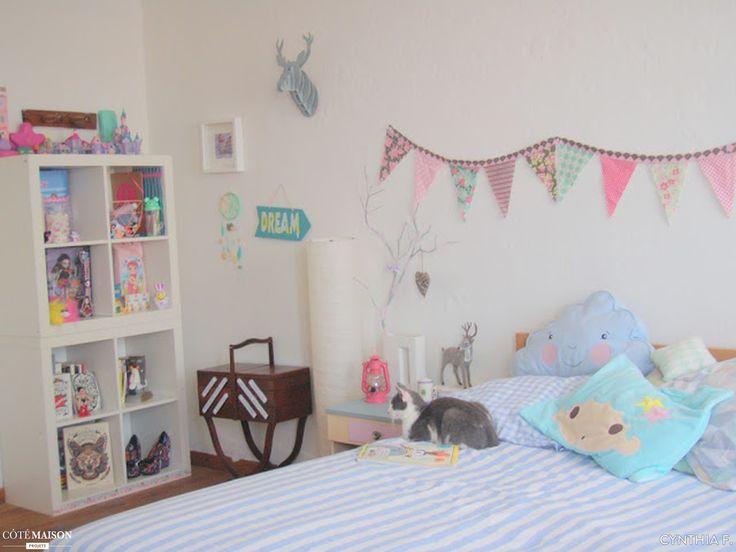 De jolies couleurs pastel pour cette douillette chambre d'enfant.