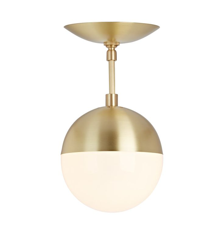 Gorgeous semi flush mount brass lighting for bathroom