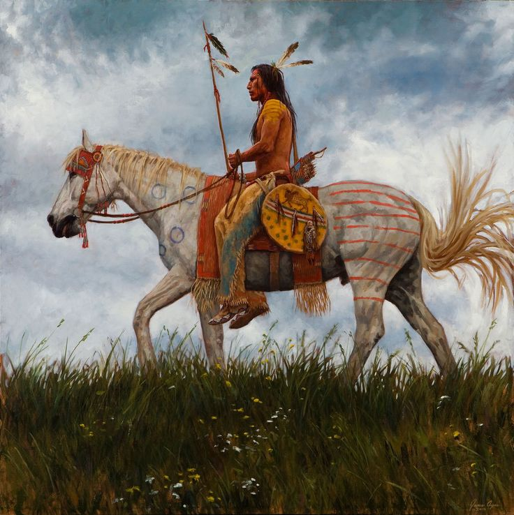 Lakota Horseman - Lakota giclee - James Ayers
