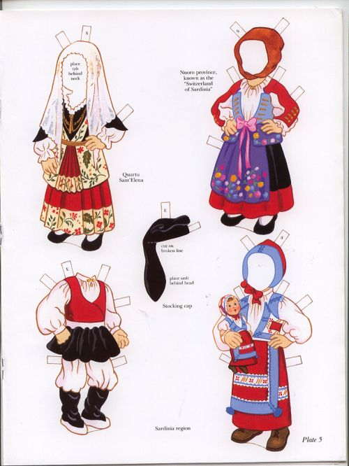Italian Boy and Girl Paper Dolls   Well here is the rest of the adorable book…