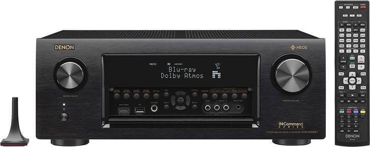 Denon - In-Command 2115W 9.2-Ch. Hi-Res Network-Ready 4K Ultra HD and 3D Pass-Through HDR Compatible A/V Home Theater Receiver - Black