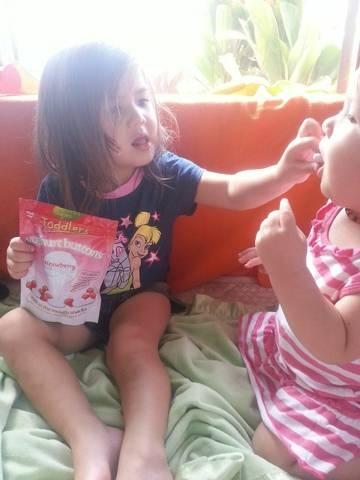 Some Little Fans enjoy the Rafferty's Garden Yoghurt Buttons     Available here- http://raffertysgarden.com/baby-food/yoghurt-buttons-strawberry    #RaffertysGarden #YoghurtButtons