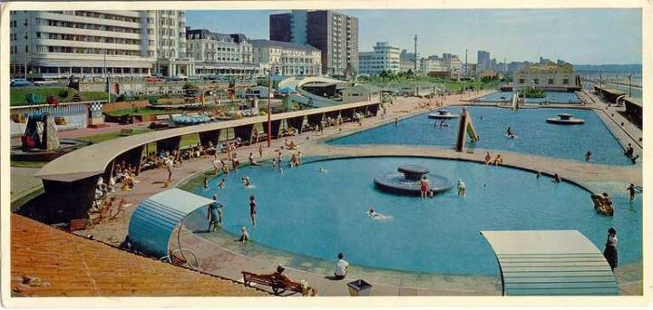 Durban beachfront of old.