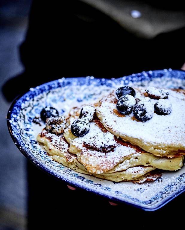 Kickass pancakes aux myrtilles pour 4 personnes - Recettes Elle à Table
