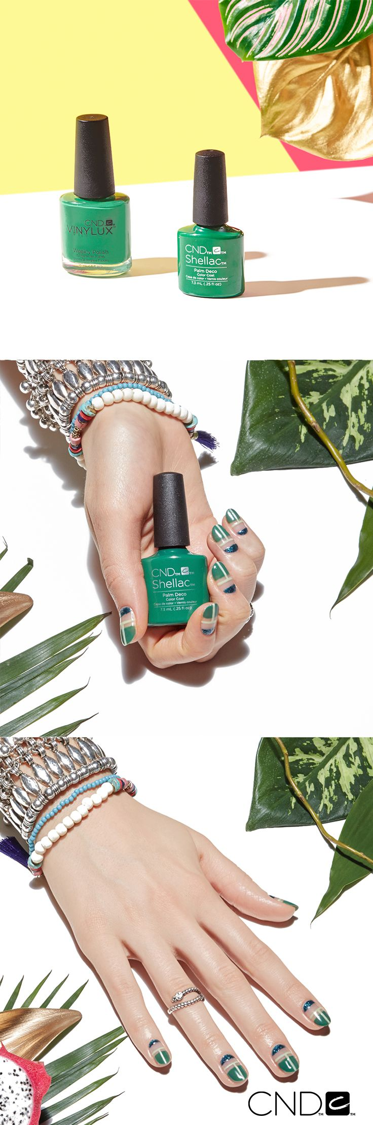 Ask your nail salon for the NEW #CNDRhythmAndHeat Summer nail polish collection. Available in CND Shellac and Vinylux shades.