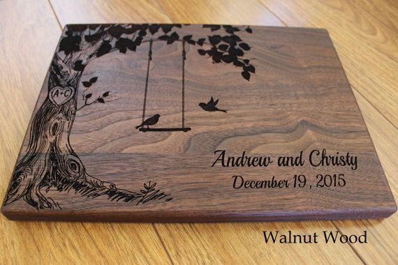 This cutting board makes a special and unique gift for a wedding, anniversary, family gift or any special occasion. The cutting board may be