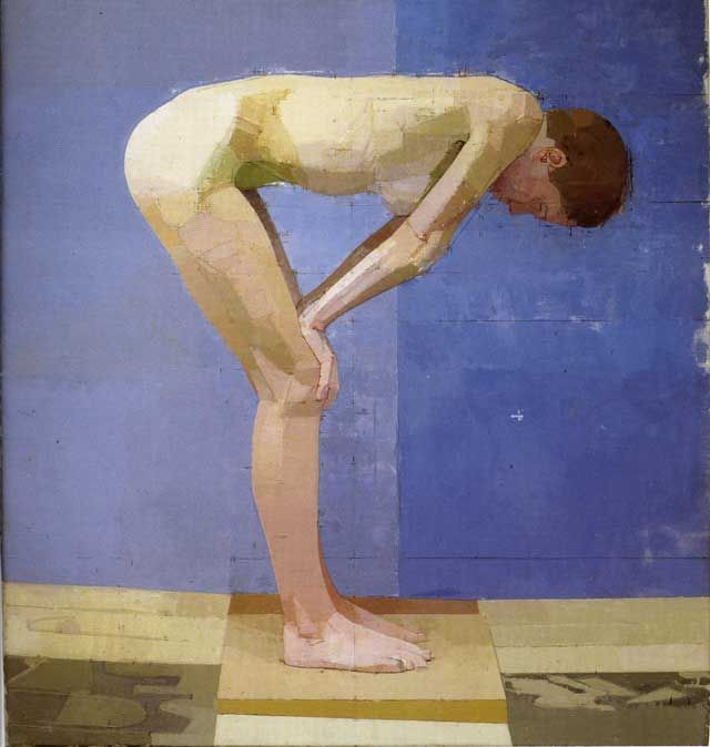 Beautiful figure paintings. Planar elements are inspiring... Euan Uglow