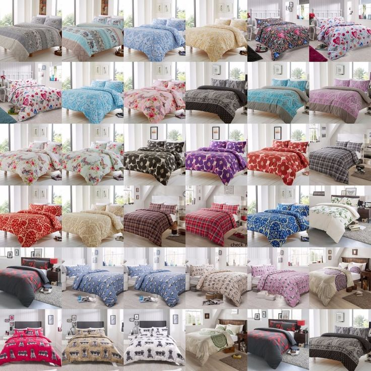 New Luxury Duvet Cover Sets with Pillow Cases Bedding Polycotton All Sizes
