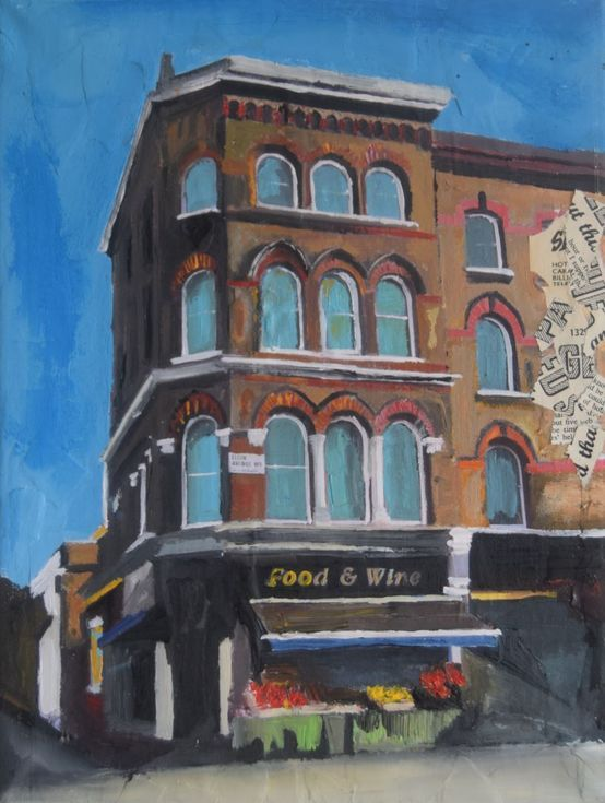 Buy Shop in Maida Vale, London, Acrylic painting by Andrew  Reid Wildman on Artfinder. Discover thousands of other original paintings, prints, sculptures and photography from independent artists.