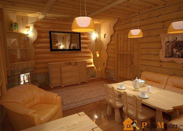 Комната отдыха бани интерьер