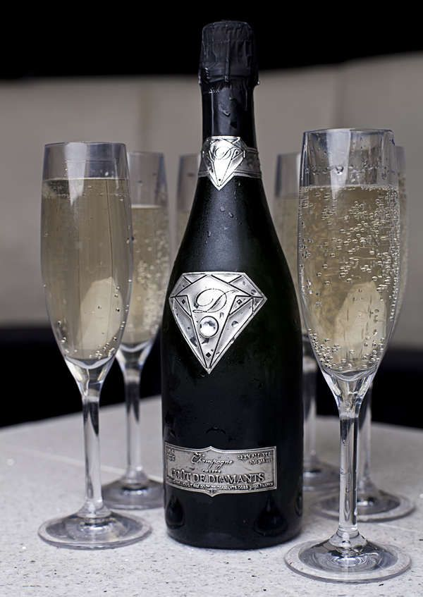 Created by luxury designer Alexander Amosu, the 'Taste of Diamonds' champagne has become the world's most expensive. Its extravagant pricetag boasts a worth of $1.8 million.
