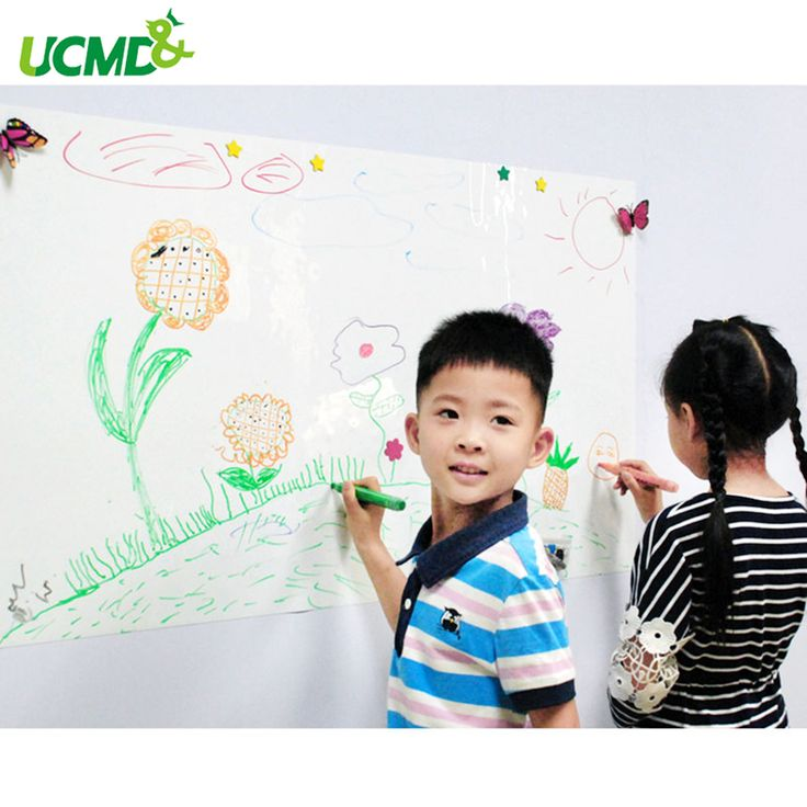 Kids Dry Eras Writing Board Magnetic Whiteboard Gloss White Dry Wipe Surface Whiteboard for Wall 60 x 40 cm x 0.3 mm