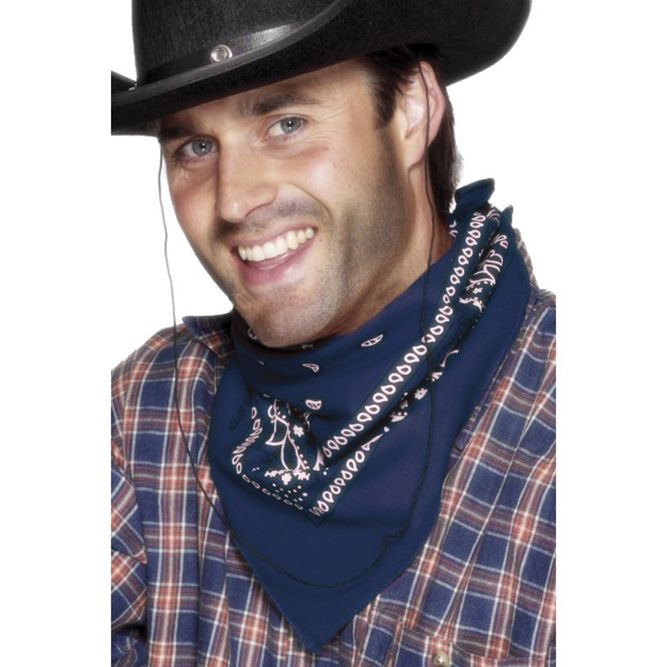 Cowboy Bandana, Blue Western Design 29022 £1.75