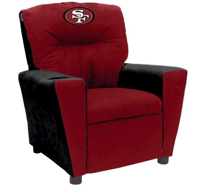 San Francisco 49ers NFL Tween Fan Favorite Microfiber Recliner - Visit SportsFansPlus.com for more details!