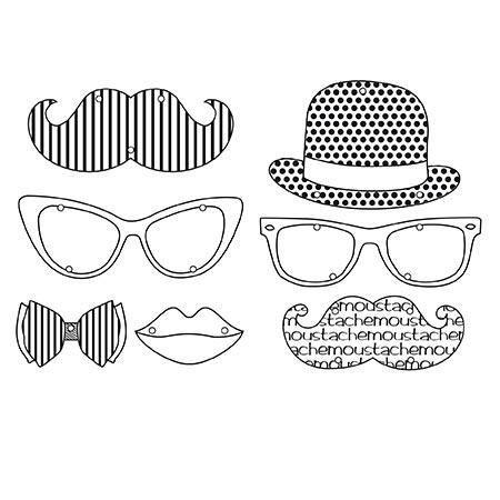 Plastique dingue - Kit sautoirs - Moustache: