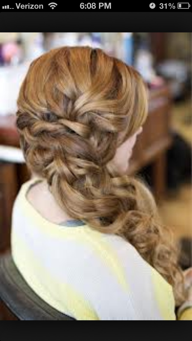 Prom hairstyle curly one side | Prom | Pinterest | Prom ... Prom Hairstyles For Curly Hair To The Side