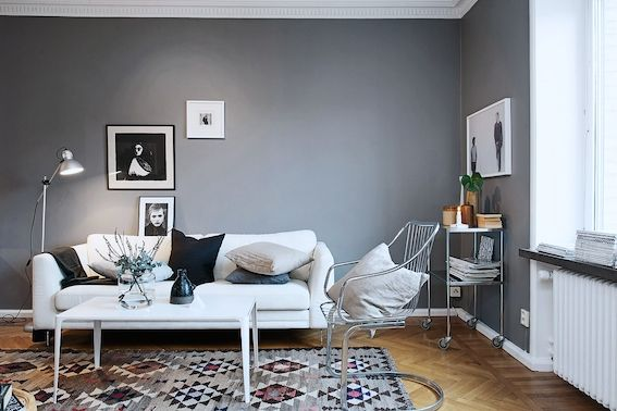Love affair: St Pauls Blue and cognac (in a Swedish space). Sarah Widman / Alvhem.
