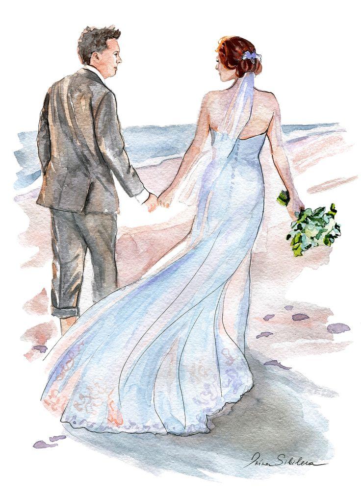 жених и невеста картинки акварелью одного таких