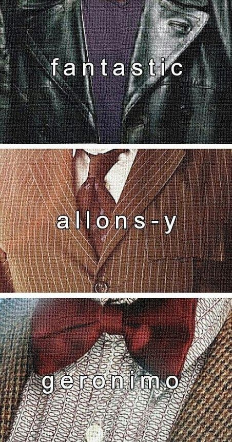 The different personalities of Doctor who