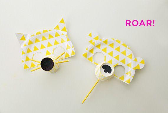 Máscaras de platos de papel