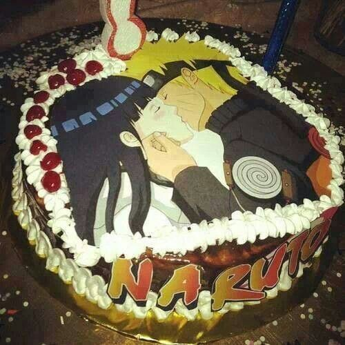 Naruto & Hinita cake! See this is on somebody's cake! Make this happen Japan!