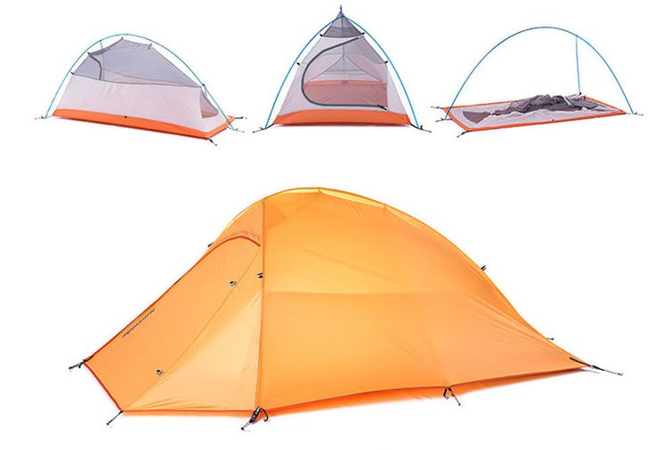 Naturehike 2 Person Camping Tent Ultralight Waterproof Double Layer NH15T002-T  | eBay