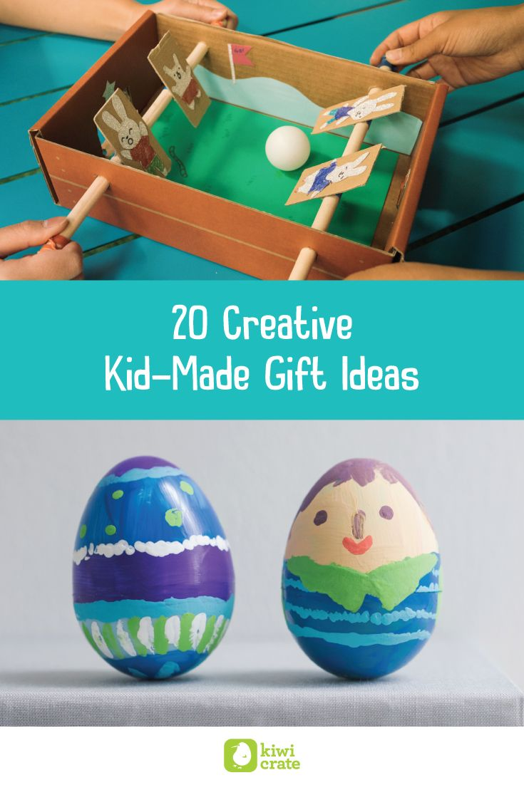 20 DIY Kid-Made Gifts! Grab the scissors, grab the glue, get to makin' a gift so special grandma will grab the tissues! :older_woman: