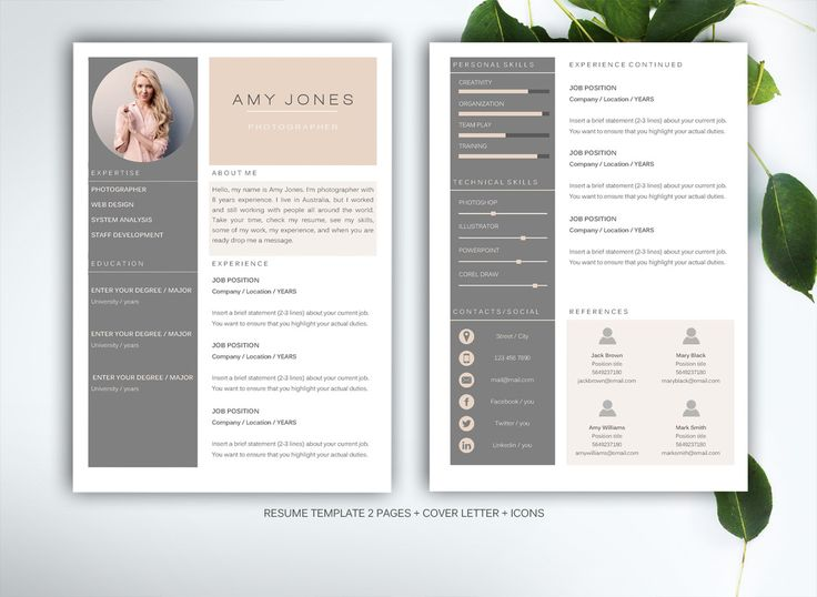 12 best Resume images on Pinterest Resume templates, Page layout - how to find resume templates on microsoft word