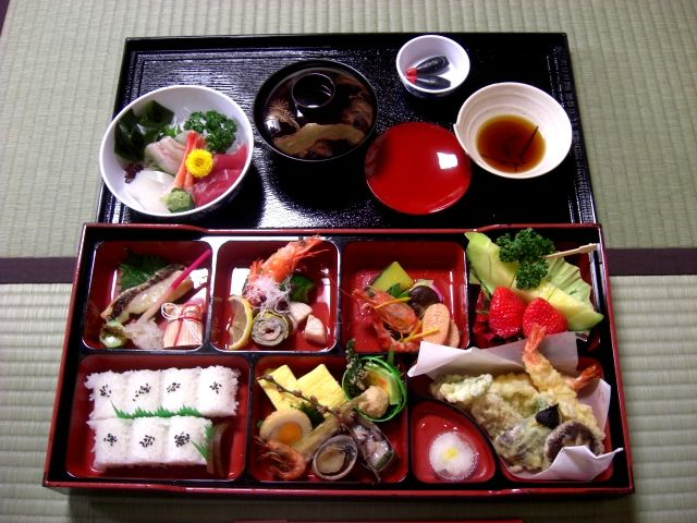 One of the healthiest diets in the world. I'll take the fish, miso, rice, green tea etc., but they can keep the natto and thousand-year old eggs...