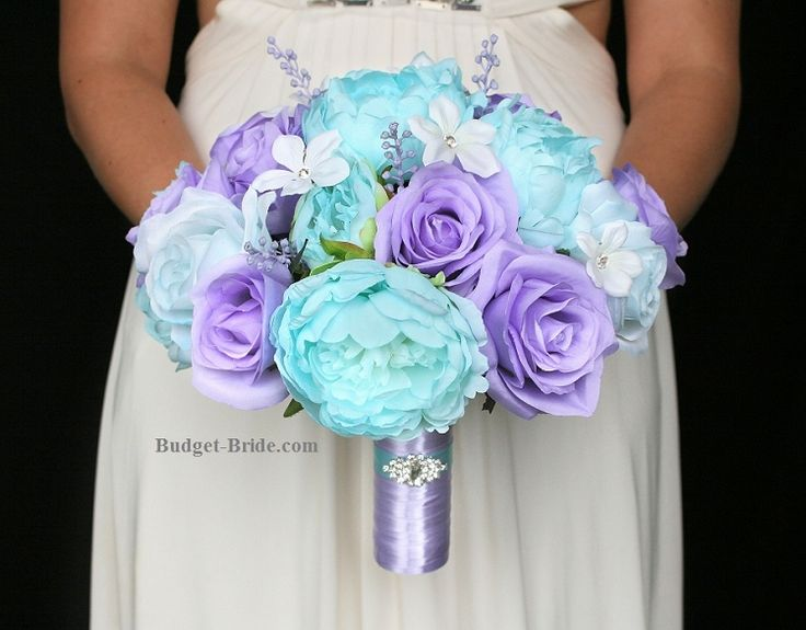 Tiffany Blue and Lavender Wedding Flowers