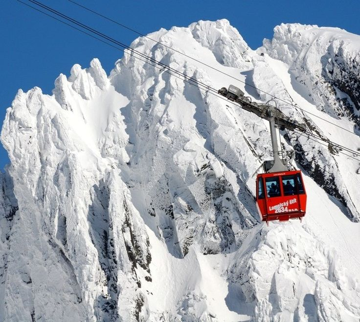 Lanovka na Lomnický štít - cable car up to the Lomnicky peak, Slovakia (photo)