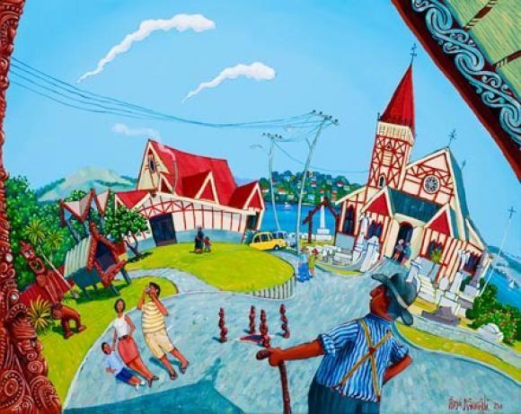Ohinemutu Rotorua by Timo Rannali