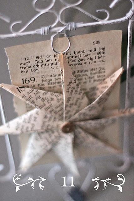 Paper Star made using this tutorial http://www.homebylinn.blogspot.ie/2011/11/papirstjerne-slik-lagar-du-den.html