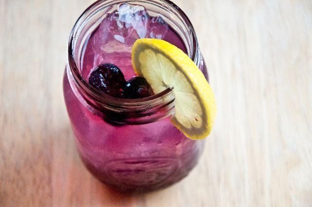 blueberries, lemonade, and vodka. Yum.