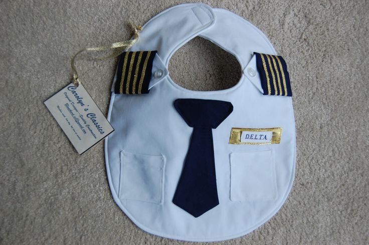 The Airline Pilot Bib by CarolynsClassics on Etsy, $23.00