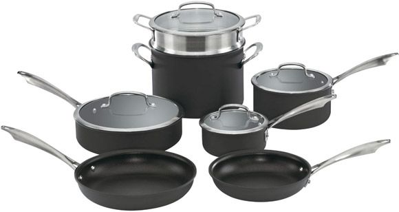 Nonstick and dishwasher safe! Super easy plus good quality | Cuisinart Dishwasher Safe Anodized Cookware