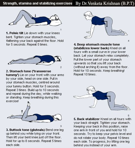 middle back pain exercises pdf