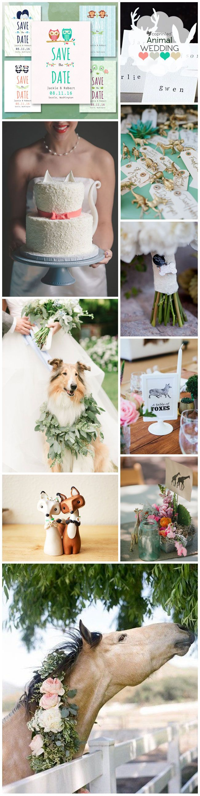 Weddings with animals: http://www.coprinted.com/blog/inspiration-board-animal-themed-wedding/