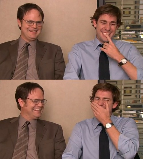 Rainn Wilson and John Krasinski. THESE fools.