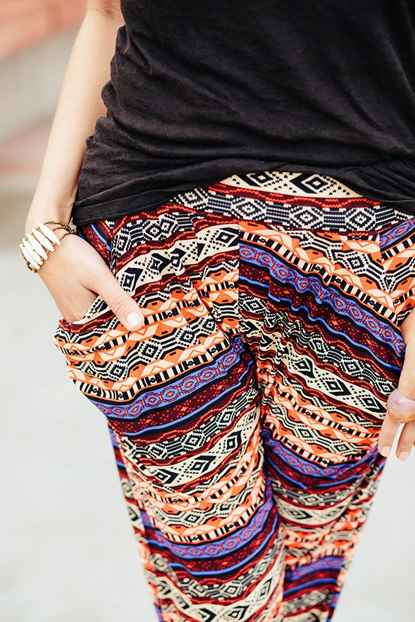 How to style bright harem pants this summer. #fashion #patterned