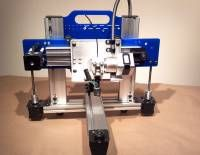 A neat 3D printer using makerslide for the frame and axis. It has some advantages of speed and resolution over other printers.