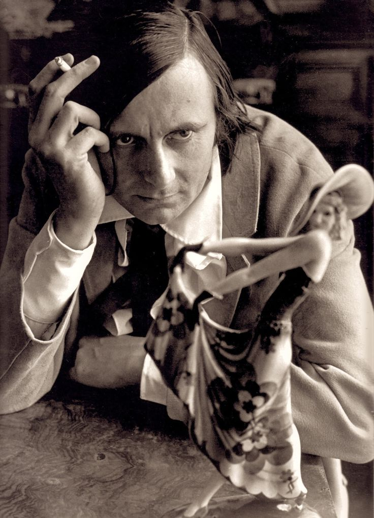BARRY HUMPHRIES portrait by LEWIS MORLEY 1967. From the program 'Barry Humphries Back With A Vengence A New Effort' 2006/7 (follow minkshmink on pinterest)