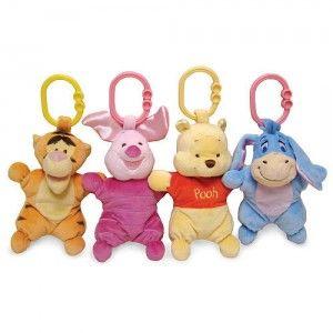 Disney Baby Winnie the Pooh Attachable Mini Plush Toy