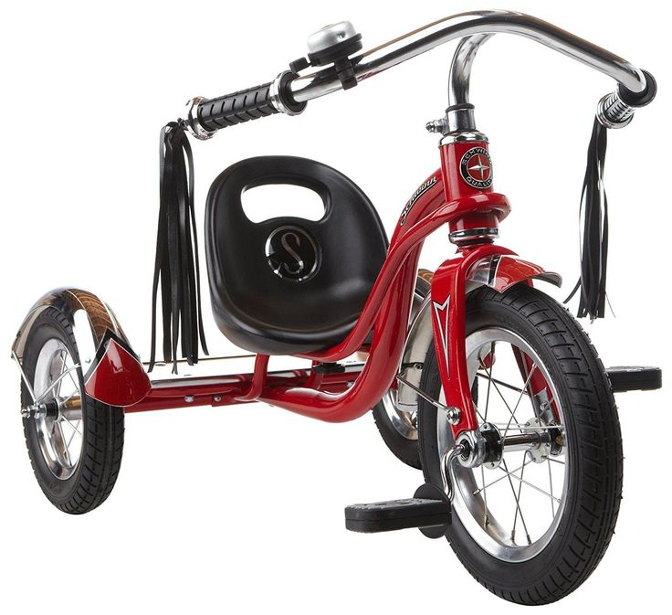 NEW 12 Red Retro Tricycle Schwinn Roadster Kids Trike Vintage Bike Chrome