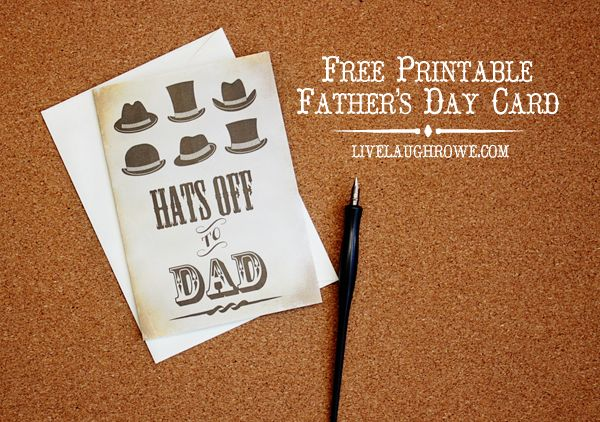 Free Father's Day Card Printable with livelaughrowe.com